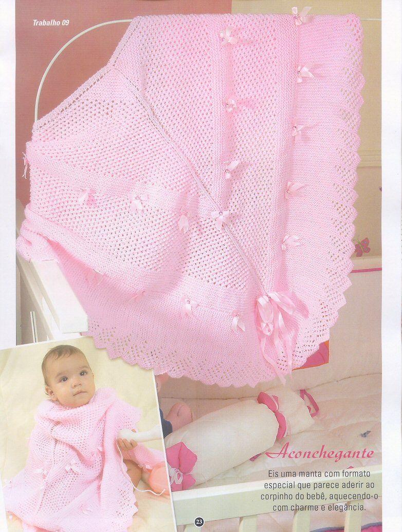 Receita Tricô Fácil Revista TRICOT Especial Mantas Crochê   Tricot 18  Lindas mantas para deixar seu bebê bem quentinho Ideias f. 5af850de4cf