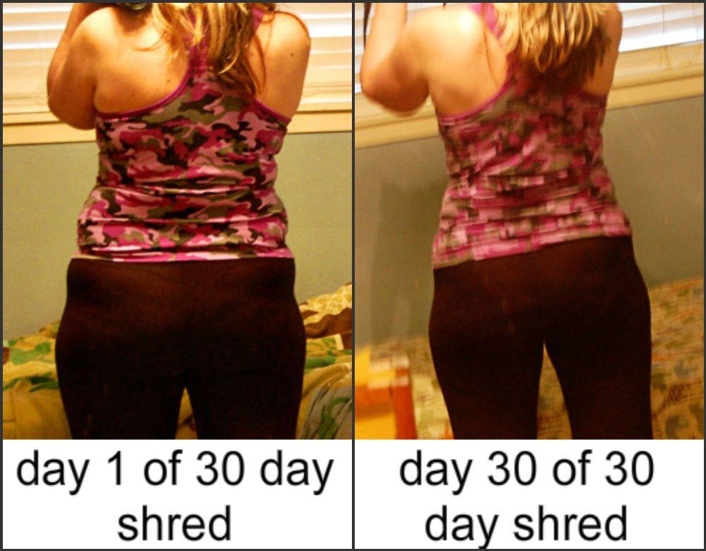 my 30 day shred video results get started pinterest. Black Bedroom Furniture Sets. Home Design Ideas