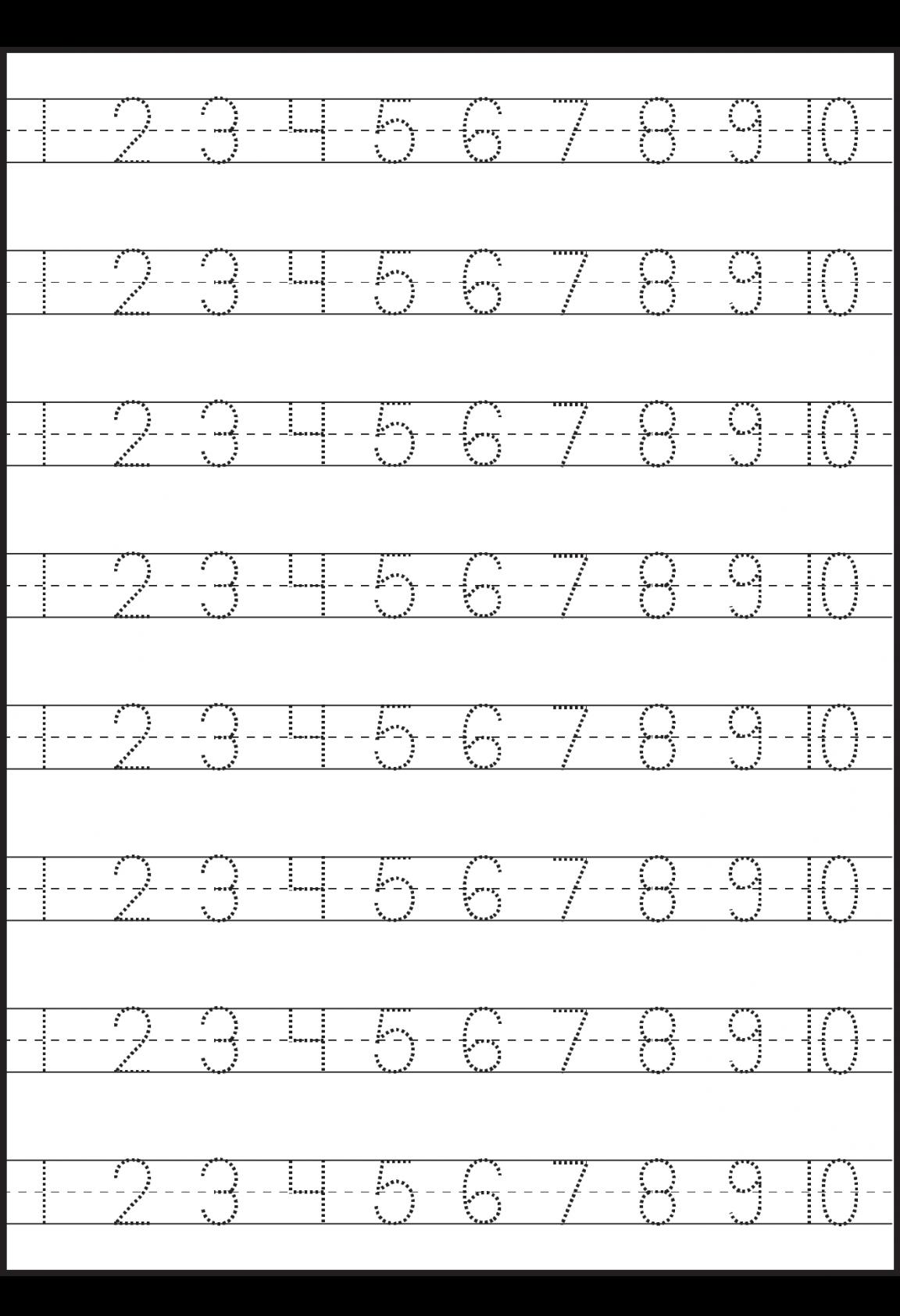 Worksheet Preschool Numbers