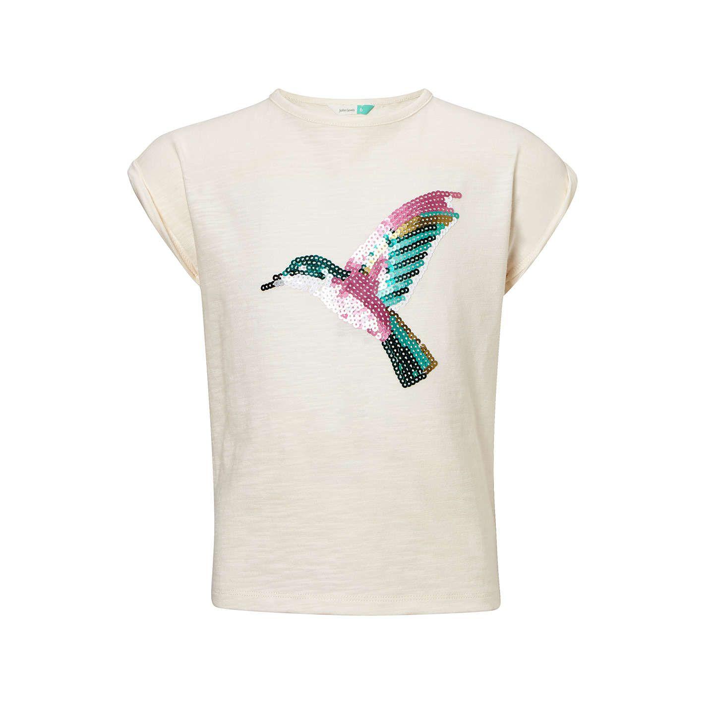 John Lewis & Partners Girls' Sequin Hummingbird TShirt