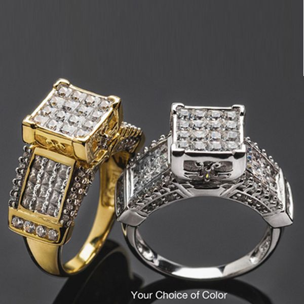 Bella Luce Platineve Princess Cut And Round Ring On