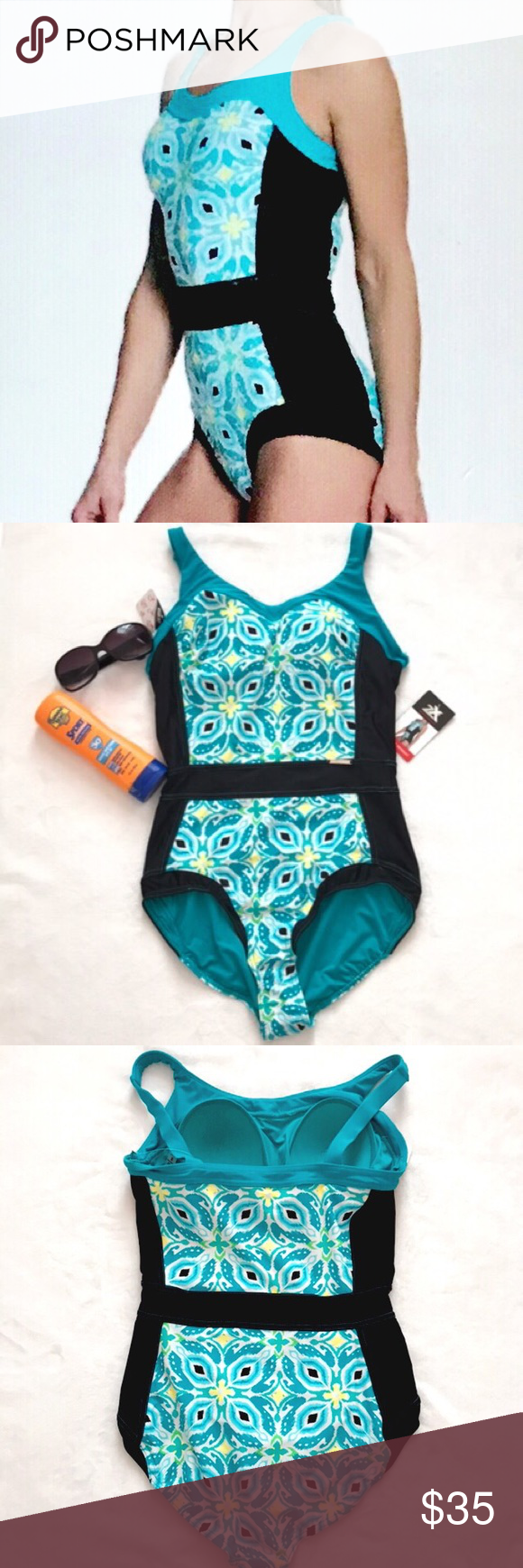 Zeroxposur One Piece Floral Swimming Suit Nwt One Piece