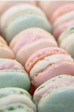 Pastel weddings are so the thing... Also, MACAROONS
