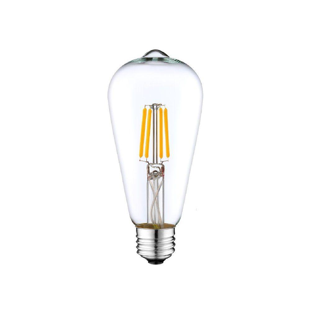 DC 12V 24V 36V 4W Retro LED Filament ST64 LED Bulb For Low