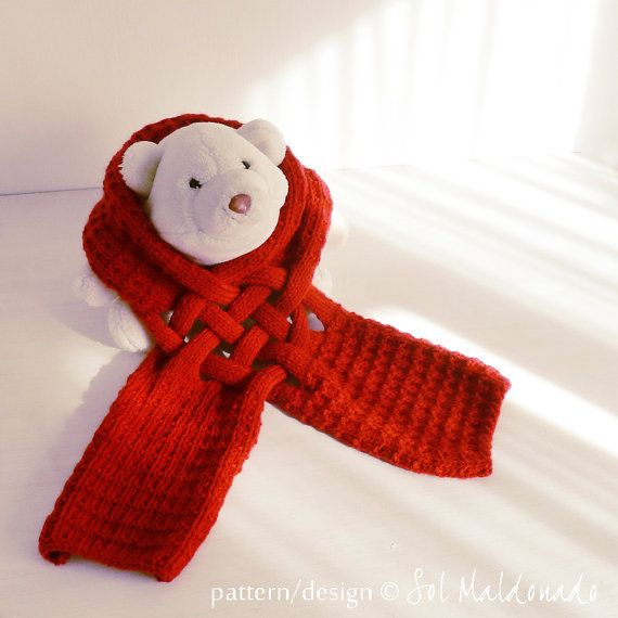 Christmas Scarf Knit Pattern Weave Scarf Pdf Knitting Pinterest