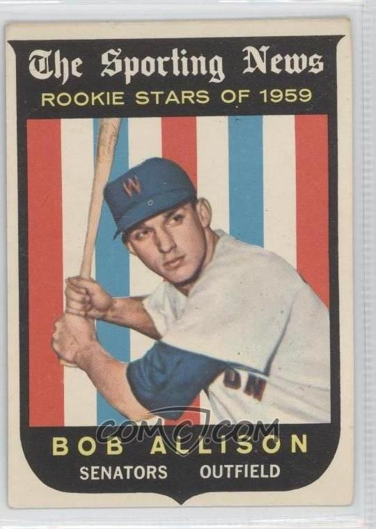Bob Allison Rc 1959 Topps 116 Rs Rc Rookie Card 9 From 2 15 Beckett Bv Baseball Baseball Cards Cards