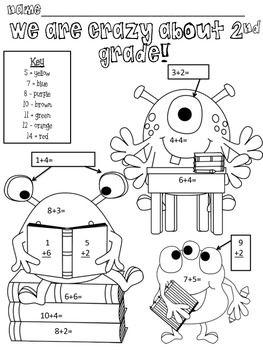 Crazy About 2nd Grade Free Second Grade Math 2nd Grade Math