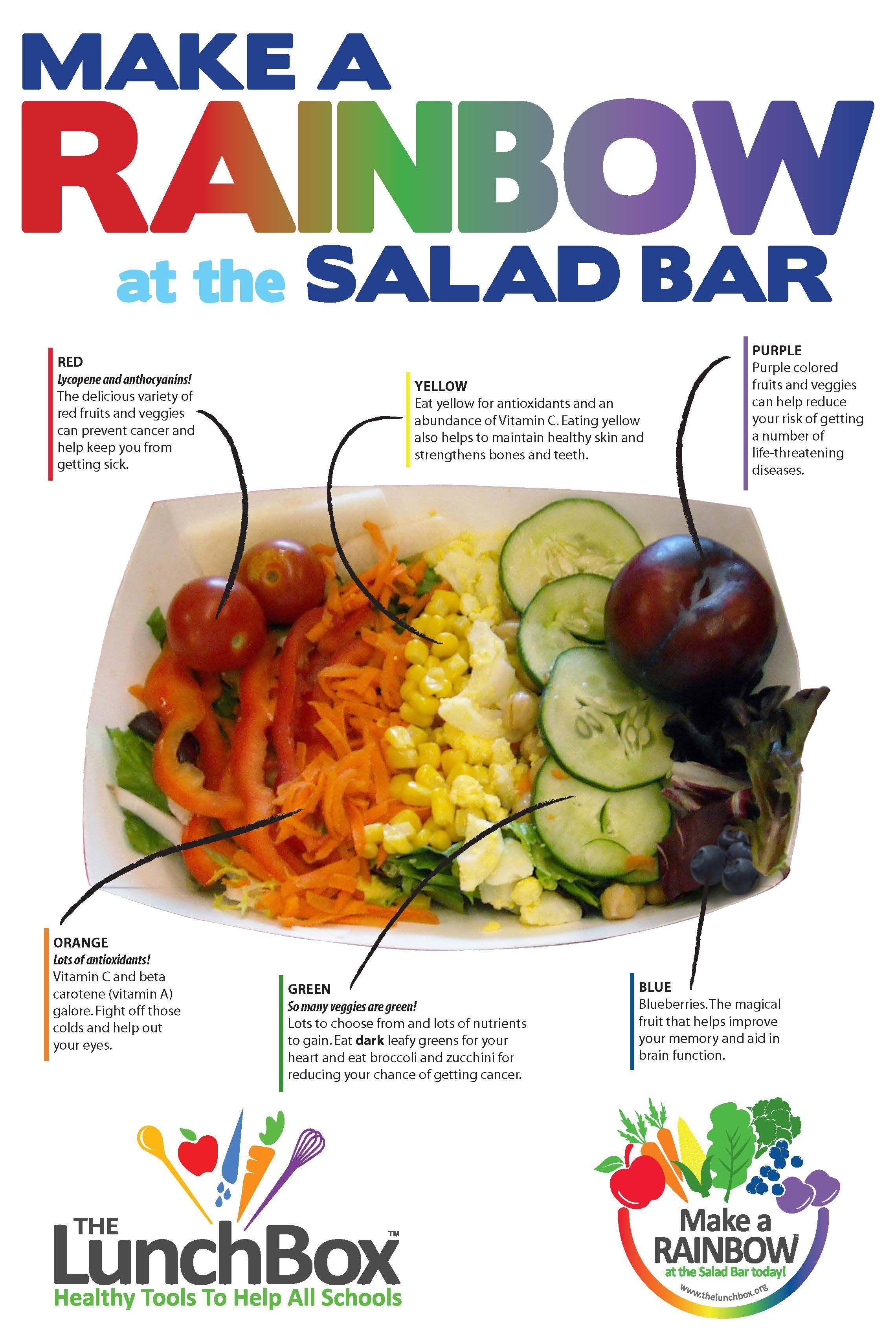 Make A Rainbow At The Salad Bar