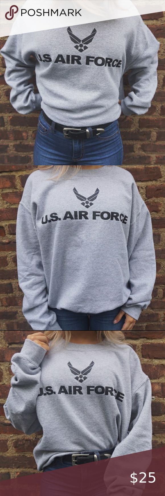 Us Air Force Crewneck Sweaters Crewneck Us Air Force Crew Neck [ 1740 x 580 Pixel ]