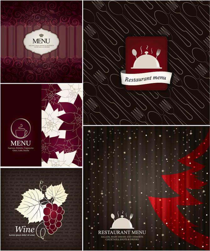 Christmas menu templates vector Christmas Pinterest Menu