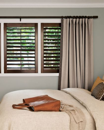 I Love How Smith Noble Added The Dark Wood Shutters To