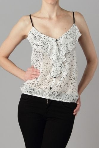 $22.05 Adjustable straps, see through printed top.In packs of 2S, 2M, and 1L per color only.100% Polyester