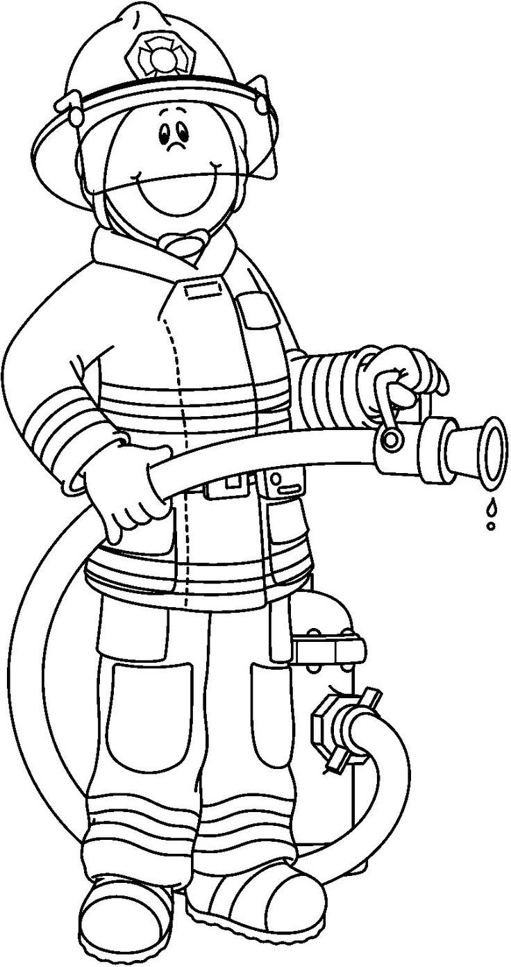 Firefighter Black And White Pwhu Images On Firefighter Clipart Firemen Firefighter Clipart Fire Safety Preschool Firefighter Crafts