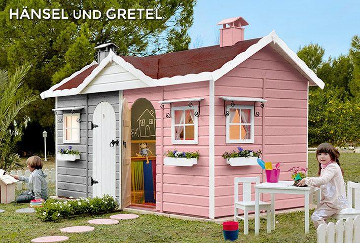 Beautiful Spielhaus Holz f r Kinder HANSEL Y GRETEL