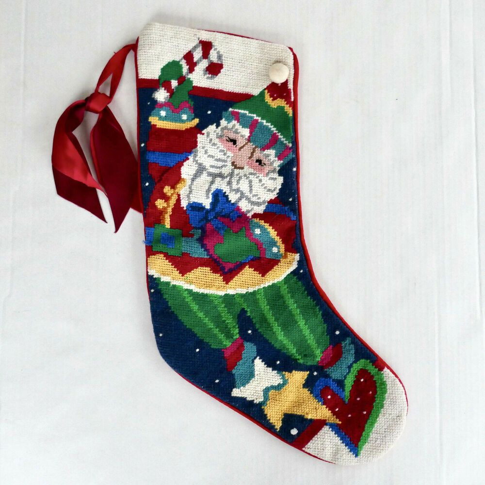 Cat Tapestry Christmas Stocking
