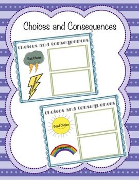Classroom Guidance Lesson: Responsibility - Choices and ...