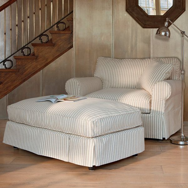 Best Friday Stripe Slipcovered Chair And A Half Jcpenney 400 x 300