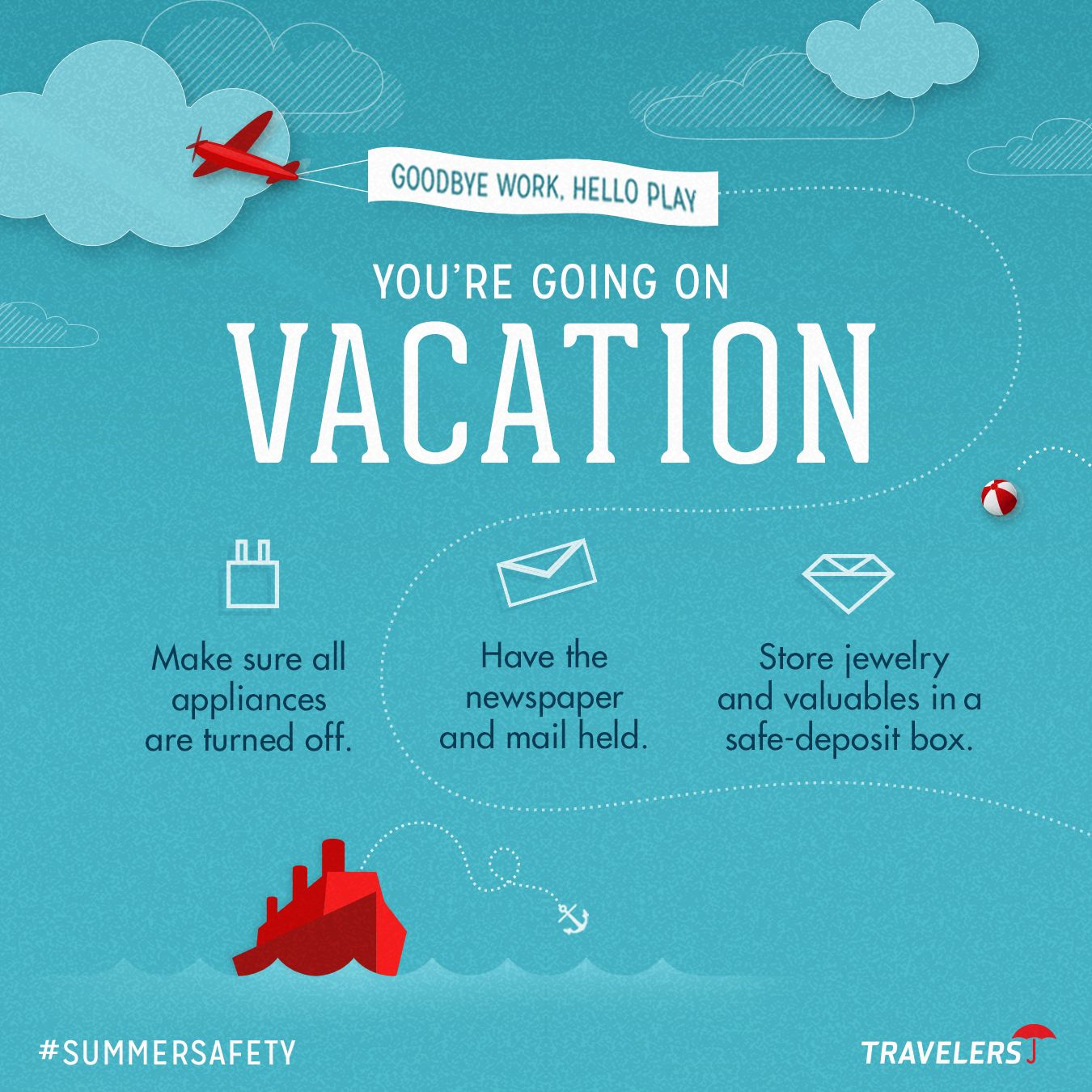 Vacation Checklist From Travelers Insurance Vacation Reads