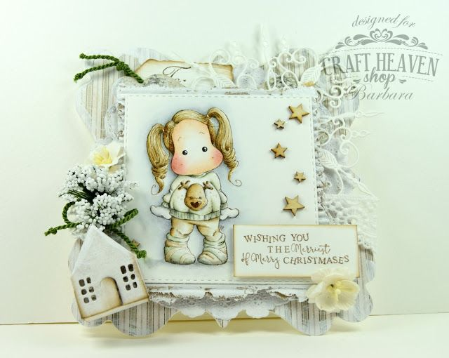 """Hi!     I'm here today to share my Craft-Heaven DT inspiration card.   I made it with """"Tilda with Holiday Sweater"""" from Aspen Holidays Col..."""