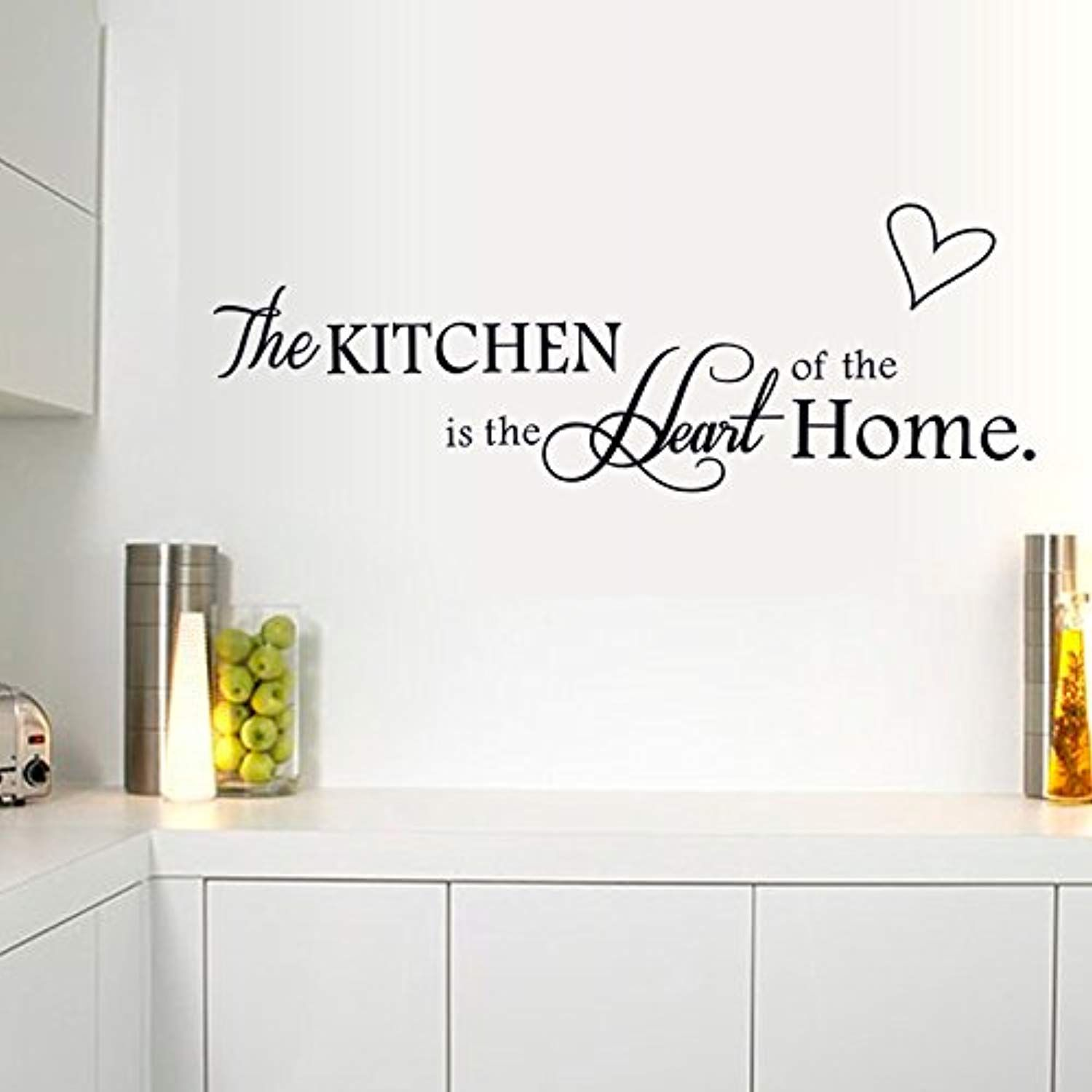 Fanglee The Kitchen Is The Heart Of The Home Quotes And Sayings Wall Decal Art Decor Wall Stickers Kitchen Wall Decals Home Decor Uk Wall Stickers Living Room