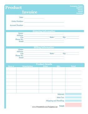 Free Online Printable Receipt Template