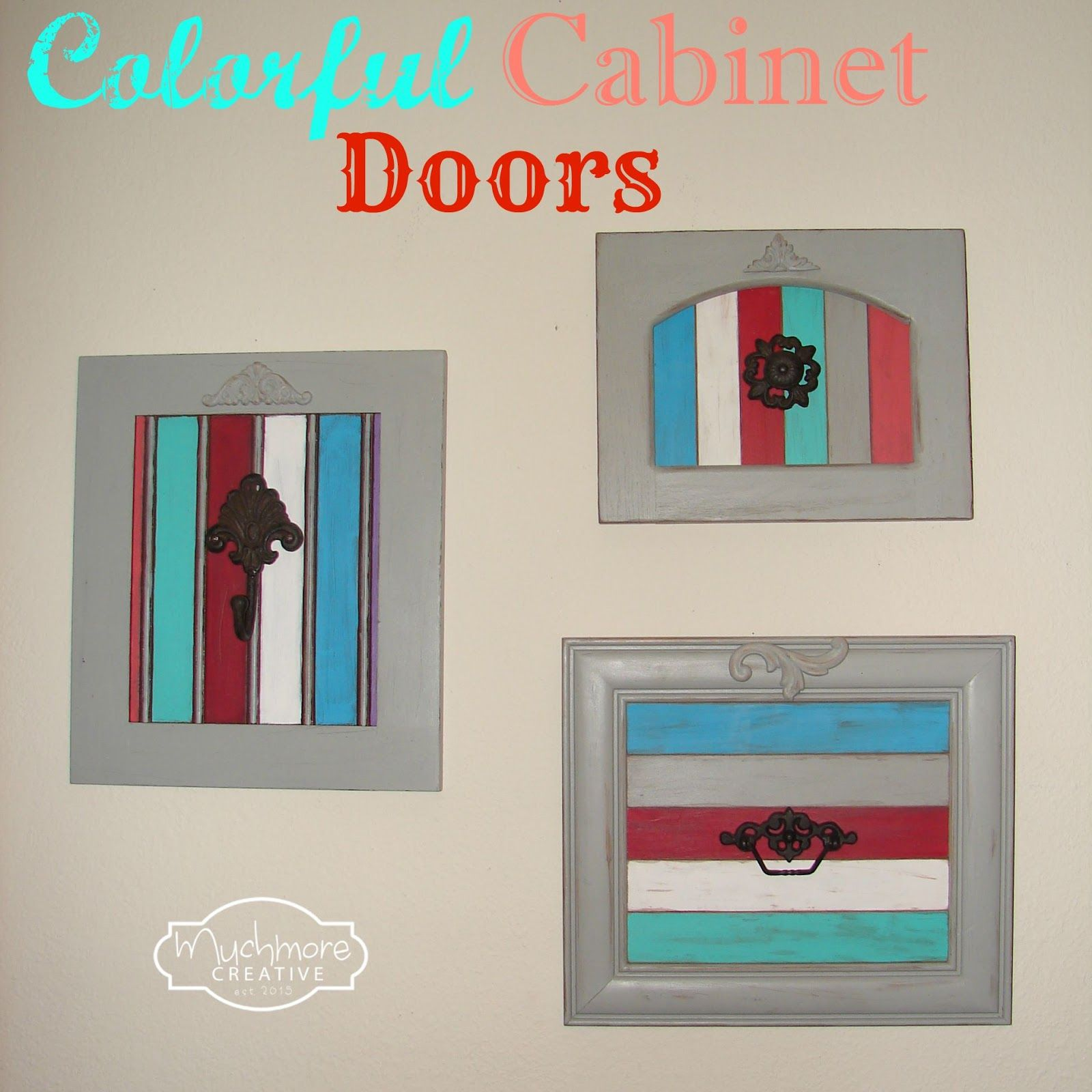 Muchmore creative colorful cabinet doors the pretty pintastic