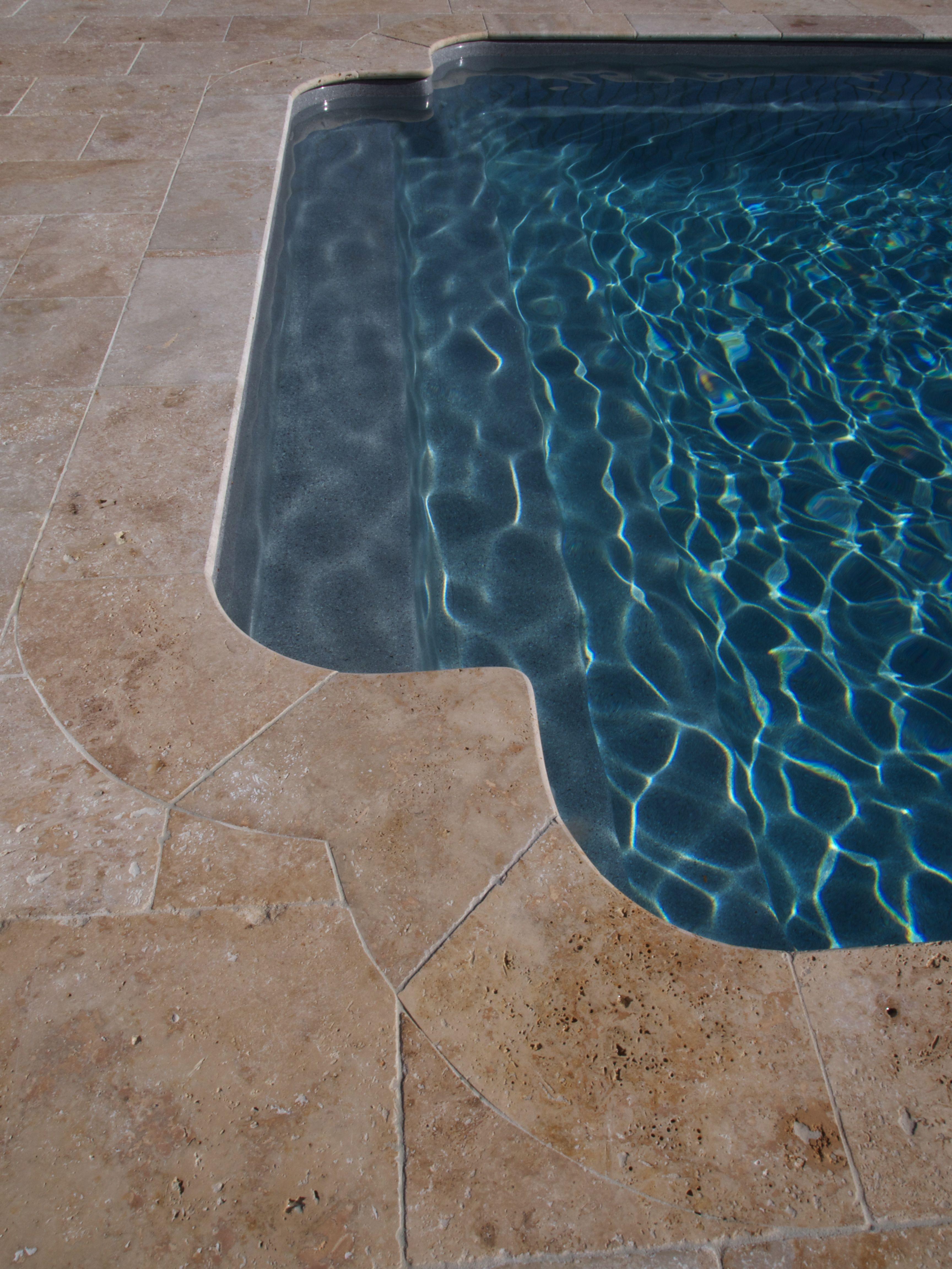 Travertine #pool coping tiles. | Pool ideas | Pinterest | Travertine ...