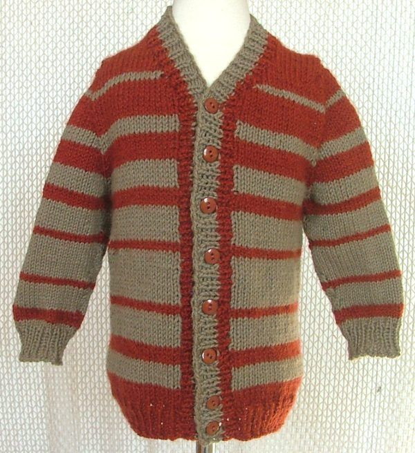 ABC Knitting Patterns - Child\'s Top-Down Seamless Cardigan with Set ...