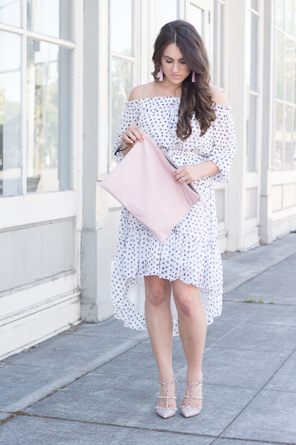 Topknots and Pearls: Blushing around town.