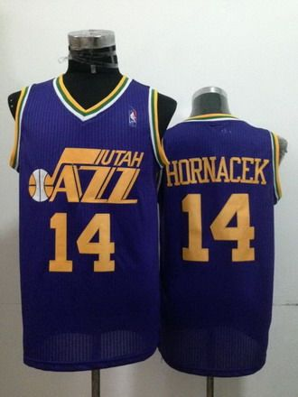cheap for discount 28f30 bacd4 Utah Jazz #14 Jeff Hornacek Purple Swingman Throwback Jersey ...