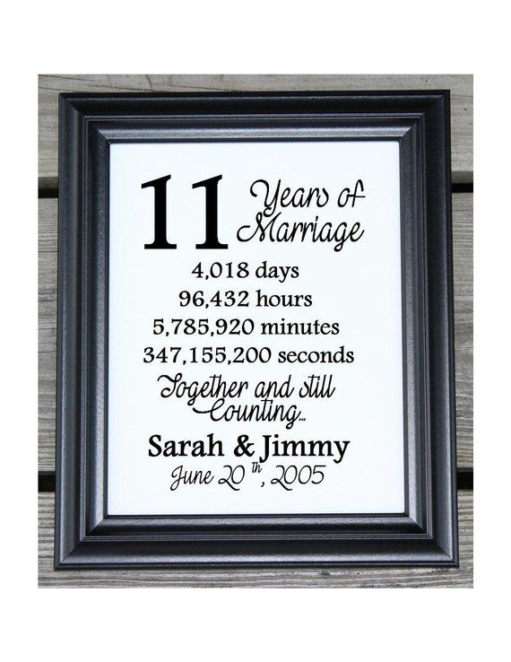 11th Wedding Anniversary Cotton Print 11th Wedding Gift 11 Years Together 11 Y 11th Anniversary Gifts Wedding Anniversary Quotes 18th Wedding Anniversary