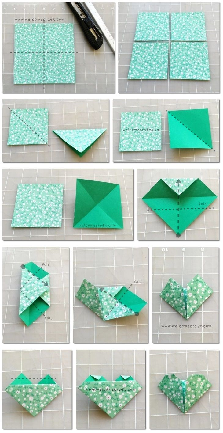 how to make origami bookmark step by step tutorial instruction