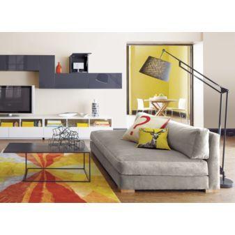 My dream sofa: CB2's piazza velvet storm sofa. It's low, laidback, so comfy, and velvet!