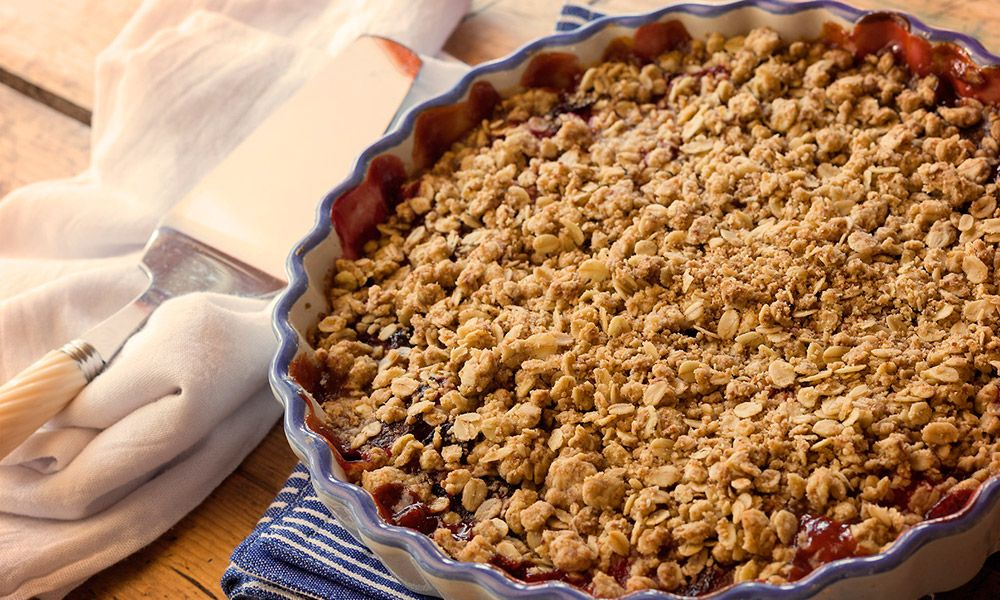 Plum and apricot crumble one of many winning fruit combos (recipe) #cannabis #420 #cannabutter #medicate #weed