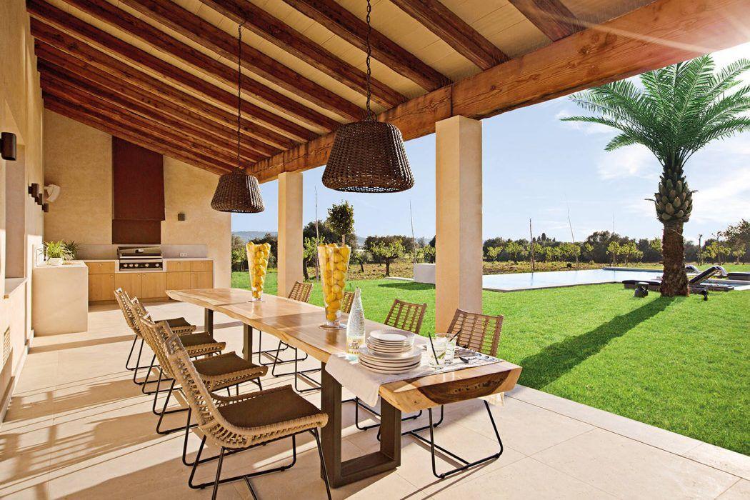 napfényes veranda Casas mediterrâneas, Cozinha externa
