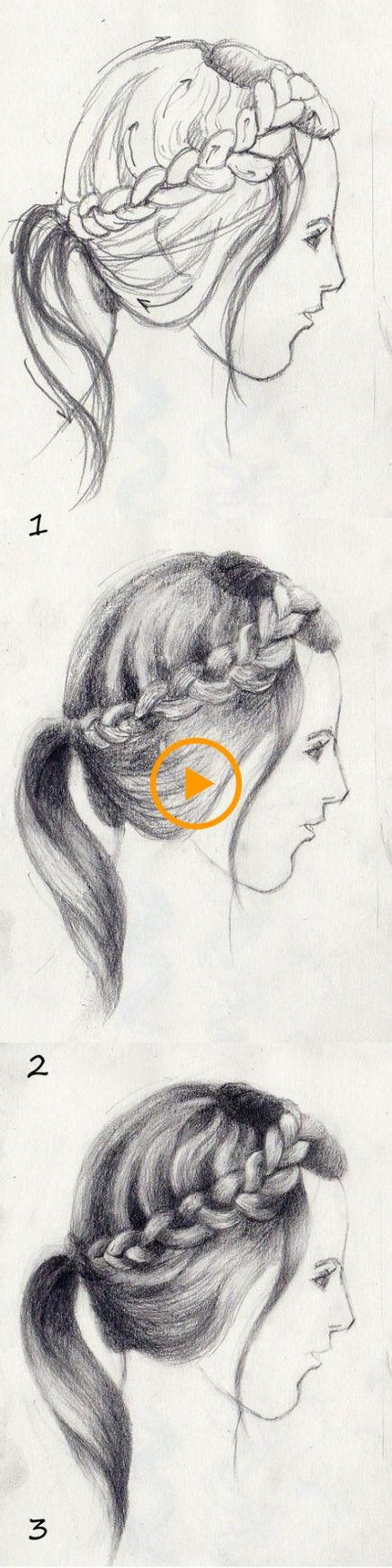 Más de 31 ideas para el dibujo de trenzas paso a paso, #braids #Drawing #hairstyledrawingstep…