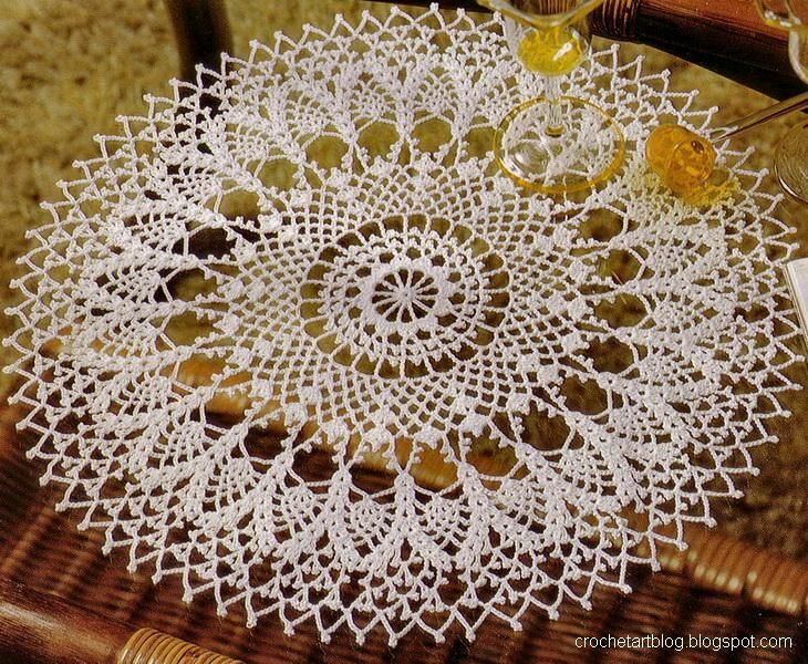 Free Vintage Crochet Doily Patterns Crochet Round Doilies