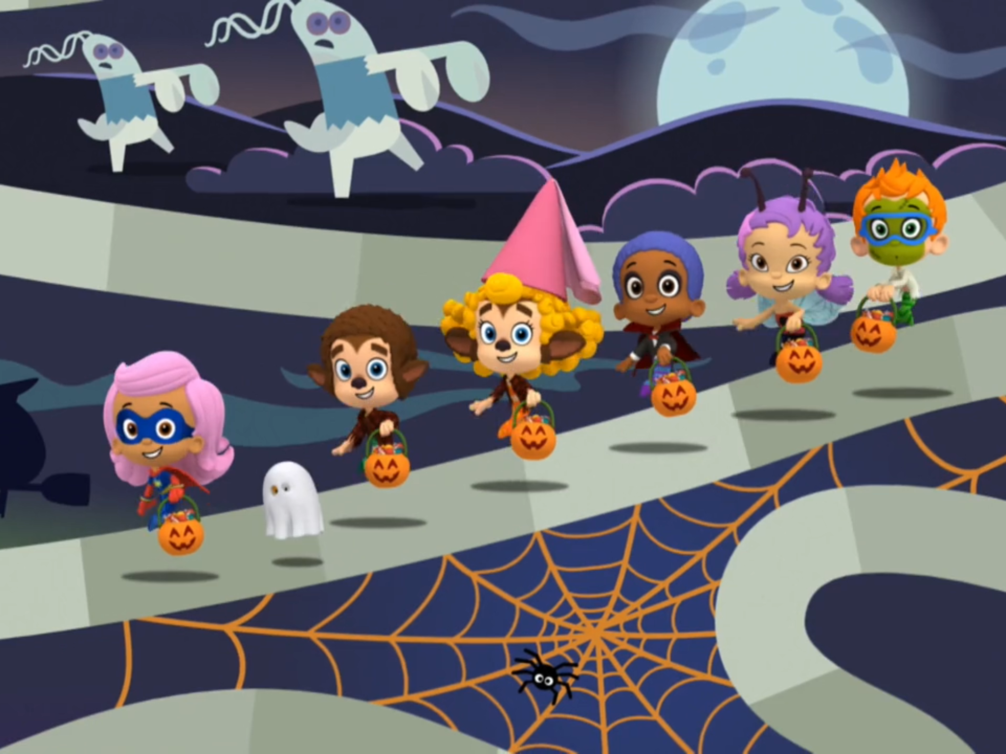 Bubble Guppies Getting Ready To Go For Trick Or Treating. | Happy ...