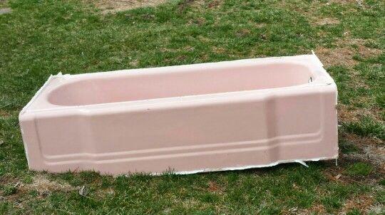 1960 S Pink Cast Iron Tub For Sale Cast Iron Tub Tub Outdoor Decor Cast iron bathtubs for sale