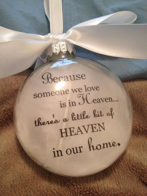 Deluxe Glass Quot Because Someone We Love Is In Heaven Heaven