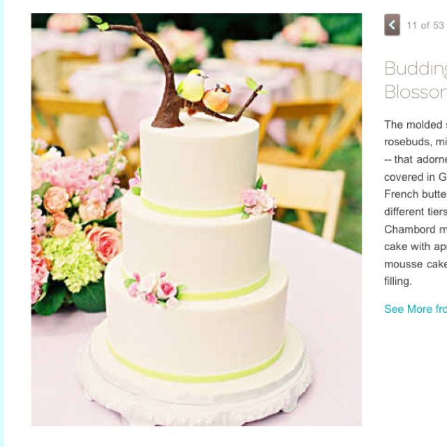 Budding blossom wedding cake http://www.marthastewartweddings.com