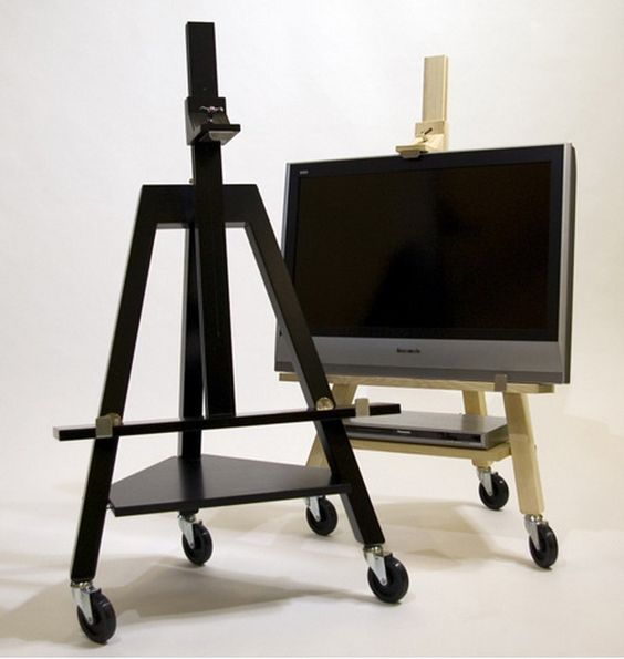 flat screen tv easel pinterest fernseher fernseher verstecken und. Black Bedroom Furniture Sets. Home Design Ideas