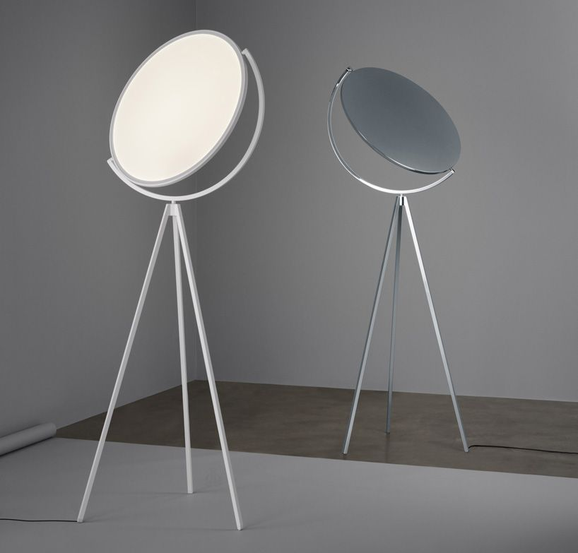 Jasper Morrisonu0027s Flat Disc Superloon Lamp For Flos Is Reminiscent Of The  Moon