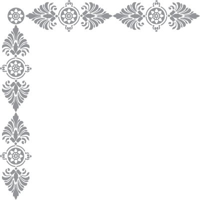 Glass Etching Stencil Of Fleur Di Lis Frame In Category Corners