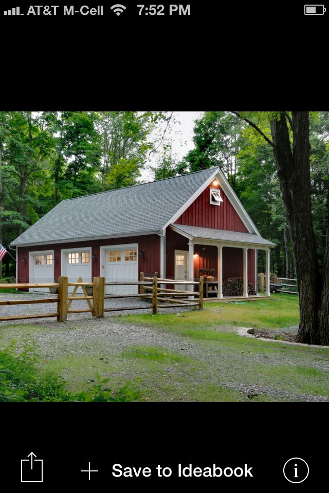 Barn 3 car garage cape cod style homes pinterest car for Garages that look like barns