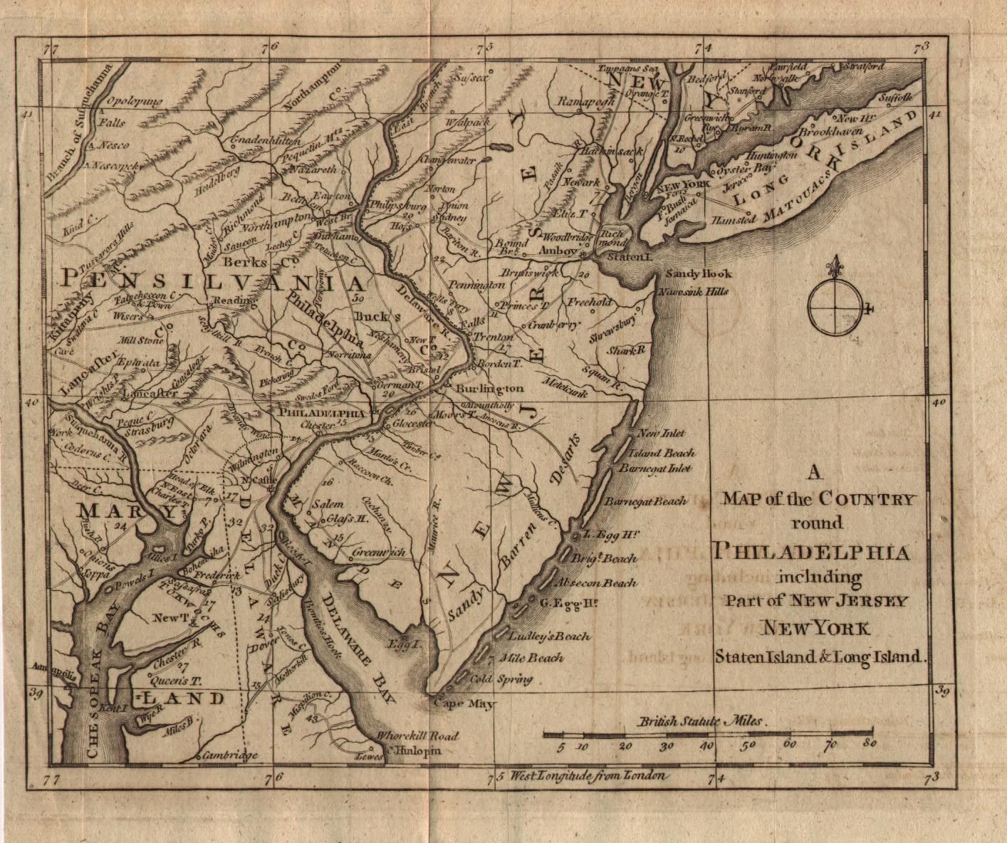 New Jersey Map Of The