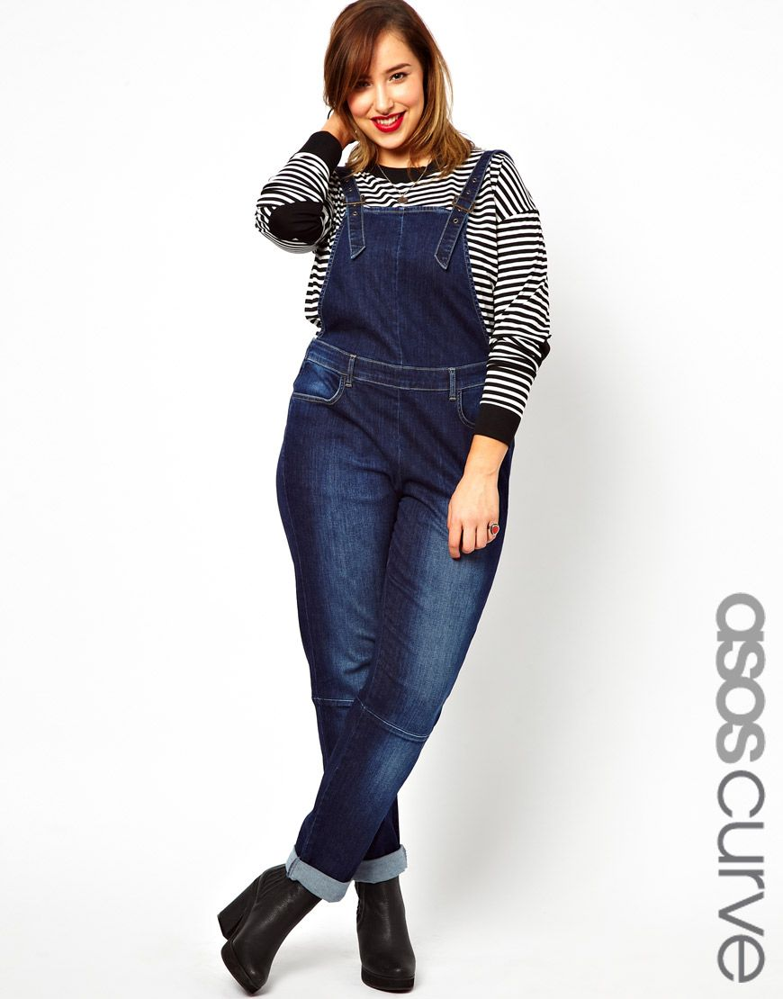 3580706199 You know you want these  asos.com curve denim overalls !  plussize ...