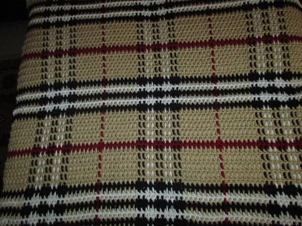 Burberry Baby Blanket By Faythe Saxton Crochet Tartan Haakliving