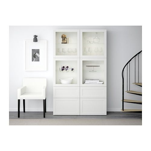 best combinaison rangement ptes vitr es hanviken sindvik blanc verre transparent glissi re. Black Bedroom Furniture Sets. Home Design Ideas