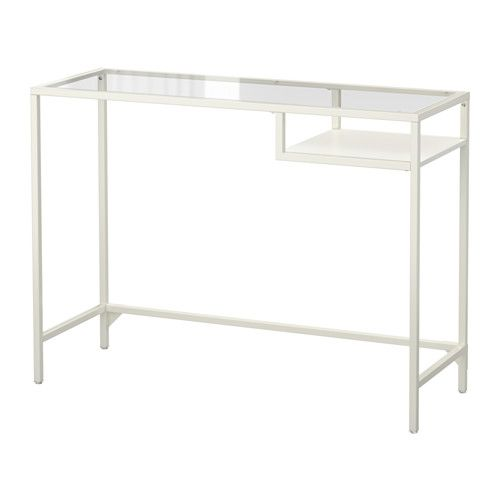 VITTSJÖ Laptop table, white, glass | Home Office Ideas | Pinterest ...
